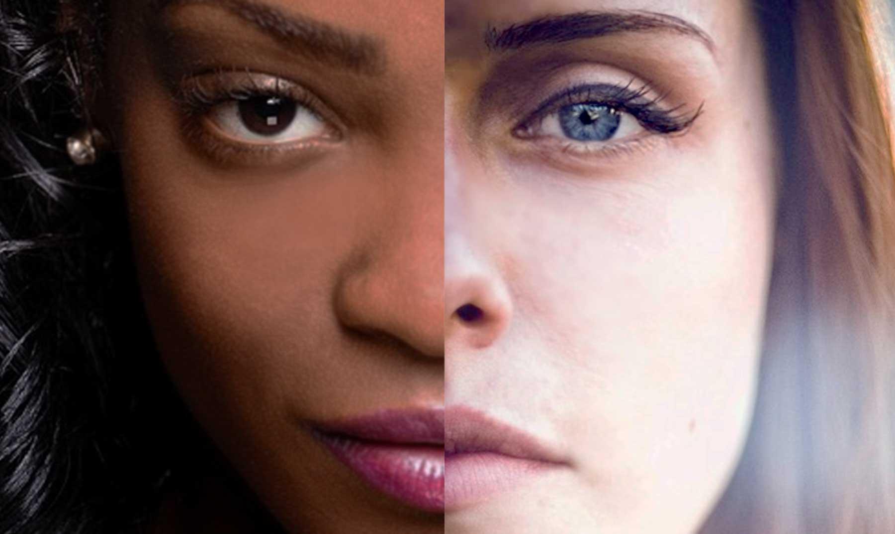 Facebook mujer piel oscura