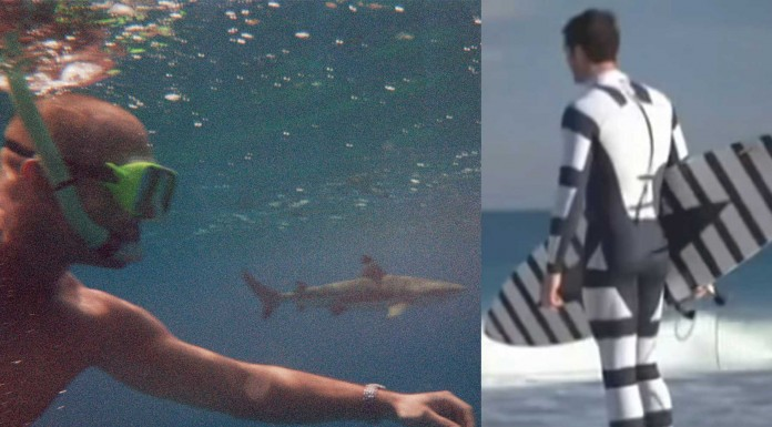 ¡Un estampado que protege de los tiburones!
