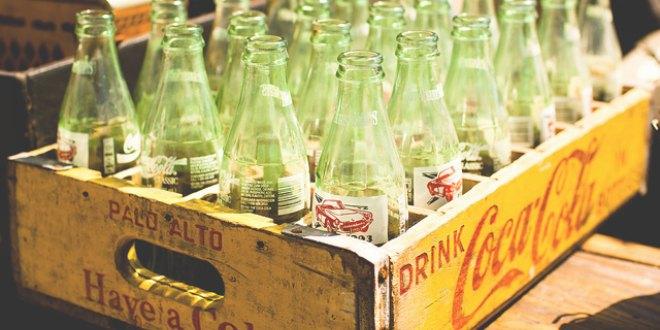 Caja antigua de Coca Cola