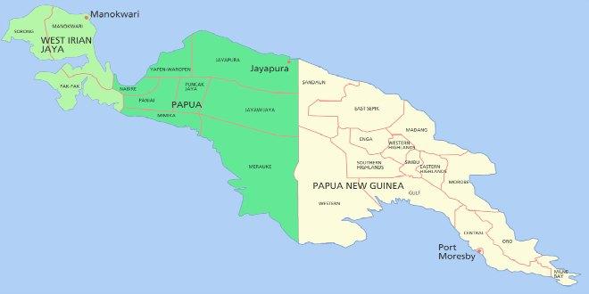 PAPUA NUEVA GUINEA MAPA