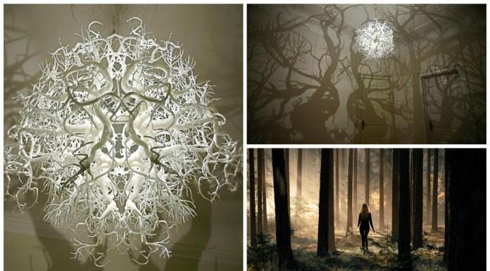 La lámpara que crea un bosque encantado en tu habitación