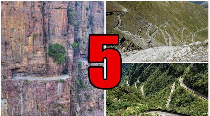 5 Carreteras terriblemente PELIGROSAS