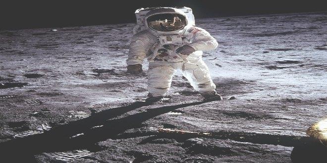 Apolo XI alunizaje astronauta en la Luna