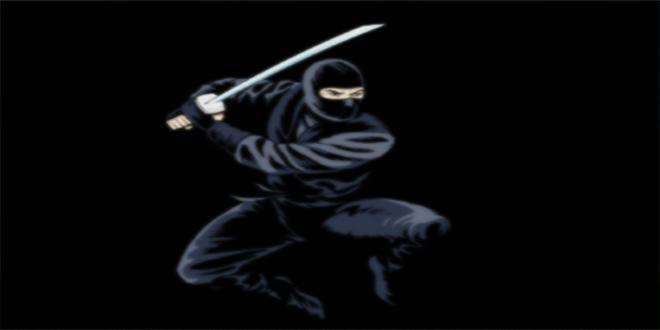 Ninja en negro