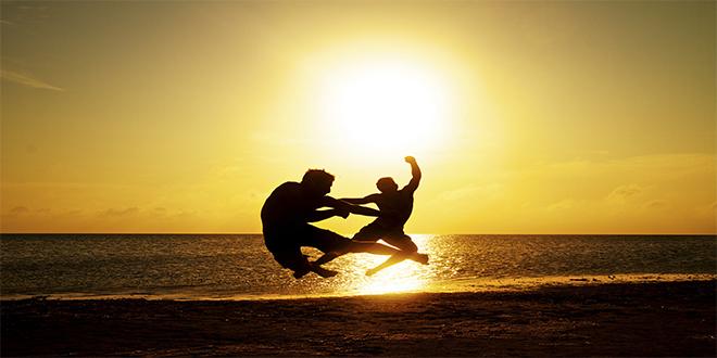 Ninjas_puesta del sol