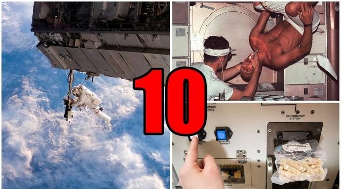 10 cosas que no sabías de vivir en el espacio