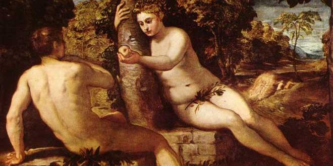 Adán y Eva Tintoretto 1550-1553