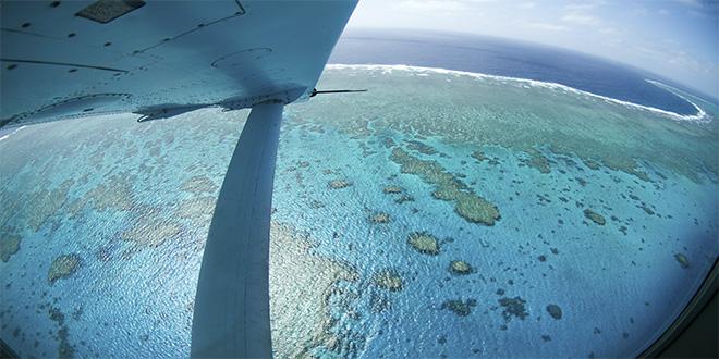La Gran Barrera de Coral vista desde lo alto