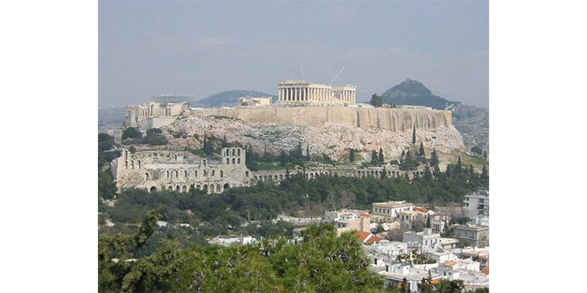 Vista de la Acrópolis en Atenas