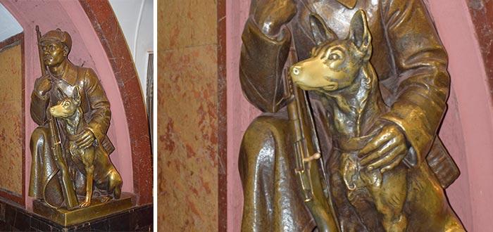 curiosidades de Rusia, estatua de perro