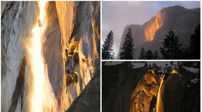 La espectacular cascada de fuego de Yosemite