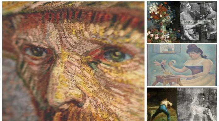 7 imágenes OCULTAS bajo cuadros famosos