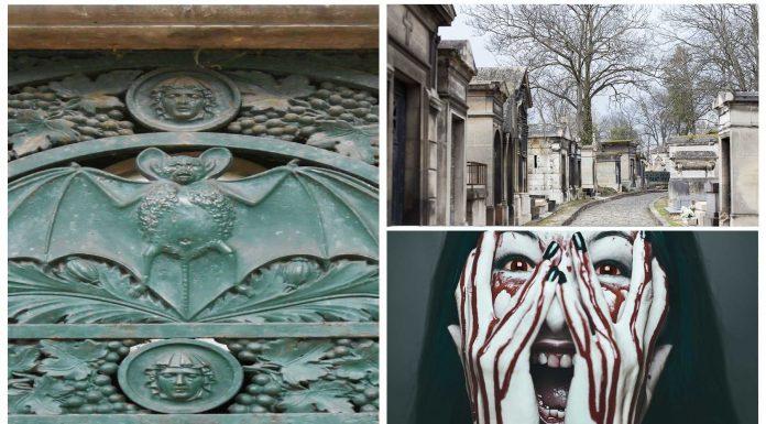 Simbología vampírica en un cementerio de París