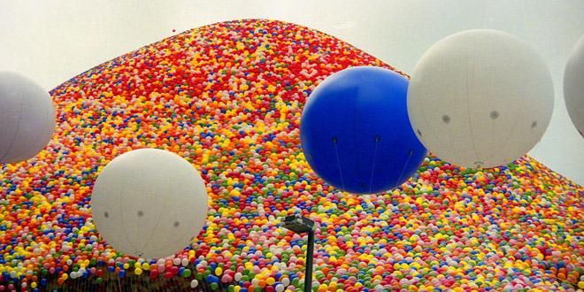 El aire se lleno globos: ¡tan bello como peligroso!