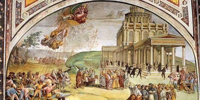 Símbolos ocultos en La predicación del Anticristo de Signorelli