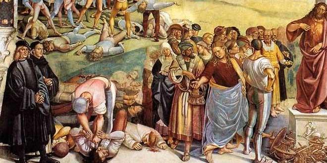 símbolos en la predicacion del anticristo de signorelli