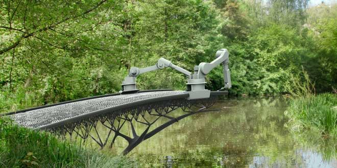 Impresoras 3D van a imprimir el primer puente en Ámsterdam