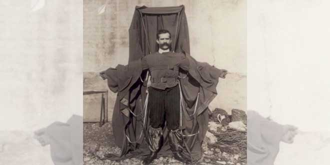 El hombre que inventó el paracaídas y murió probándolo