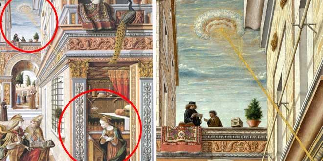 Anunciación 7 obras de arte con OVNIS