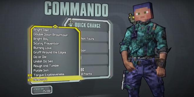 videojuegos borderlands minecraft