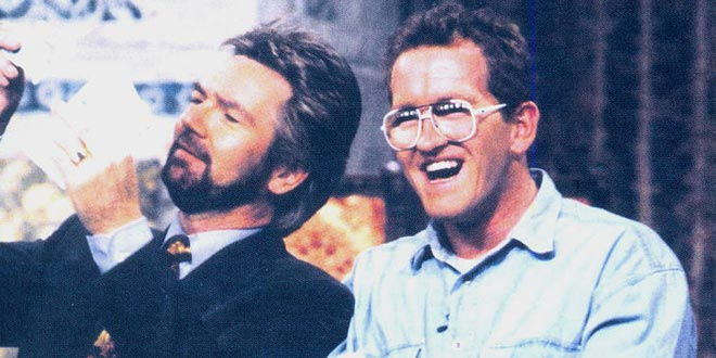 "Noel Edmonds y Eddie ""the Eagle"""