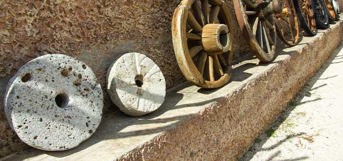 como era la vida en la prehistoria el invento de la rueda