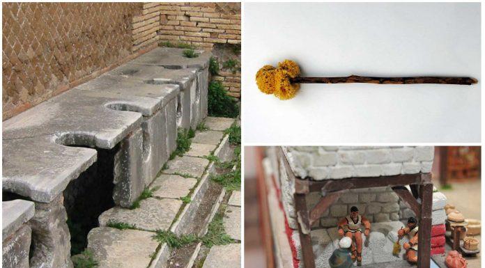 Los W.C. romanos y el instrumento para limpiarse el trasero ¡Supercuriosos!