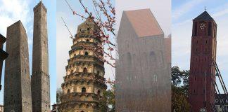 4 Torres inclinadas del Mundo que ¿pueden caer?