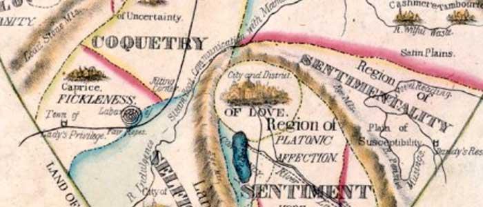 mapa del corazón de una mujer