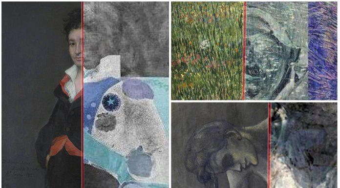 imágenes ocultas bajo cuadros