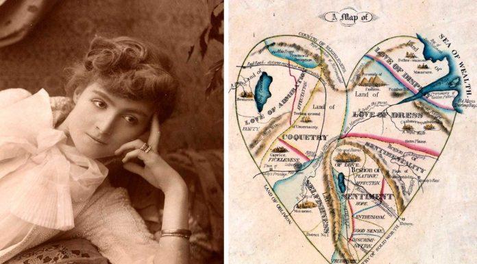 El mapa del corazón de una mujer de 1833