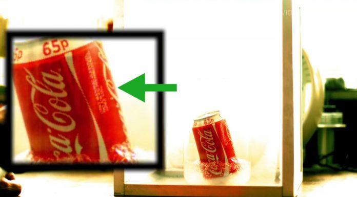 Mezclar coca-cola con nitrógeno líquido, ¿es una buena idea?