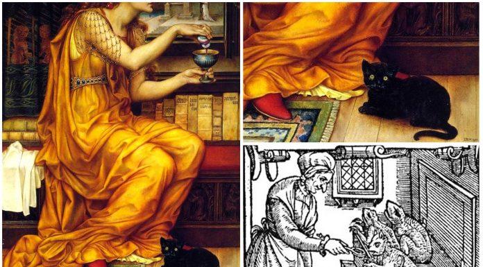 Los Espíritus Familiares de las brujas encarnados en animales domésticos