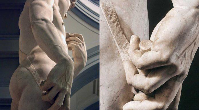El arma secreta que oculta la mano del David de Miguel Angel