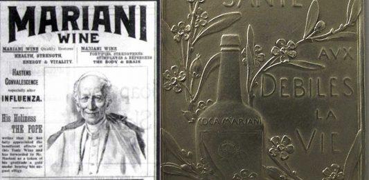 """Vino Mariani o Vino con """"cocaína"""" la bebida que gustaba a Pio X y León XIII"""