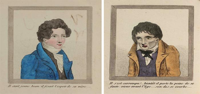 Este libro de 1830 ilustró las consecuencias de ser un onanista y eran...