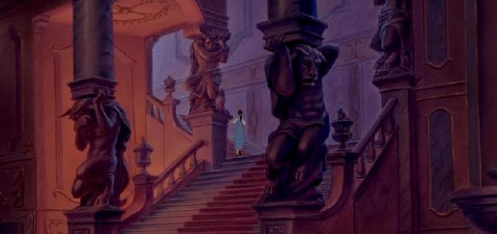 estatuas, Disney, bella y la bestia