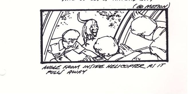 Jurassic Park alternative storyboard