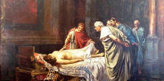 Nerón ante el cadáver de su madre, de Arturo Montero Calvo