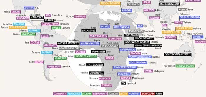 Cada país es el mejor en algo, ¿en qué lo es el tuyo? ¡Mira el Mapa!