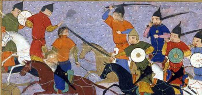 Guerreros mongoles contra guerreros chinos