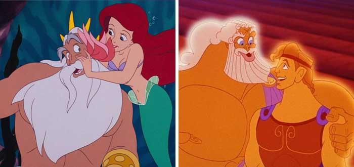 Princesas disney, hércules y Ariel son primos