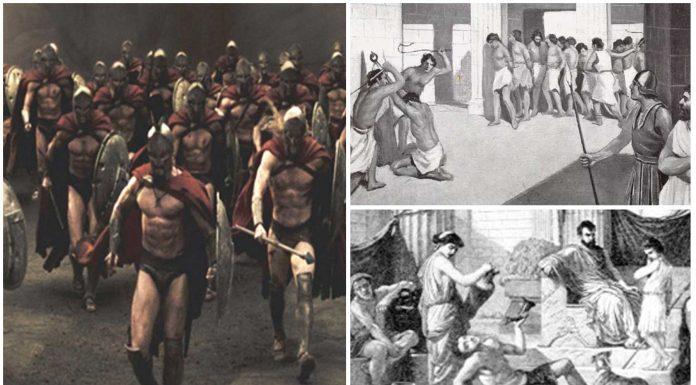 La dura vida de los Ilotas, esclavos de los Espartanos