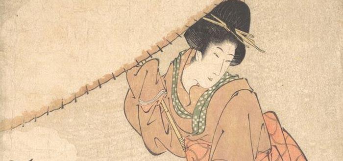 leyendas de sirenas, joven mujer japonesa