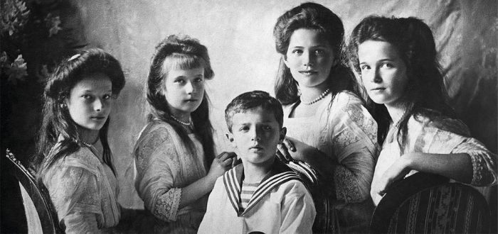 la última familia de zares rusos