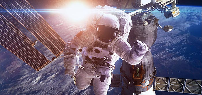 astronauta, estación espacial