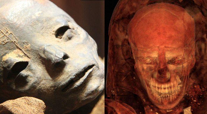el aspecto de las momias bajo las vendas
