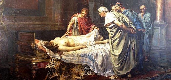 Nerón ante el cadáver de su madre, Agripina la Menor