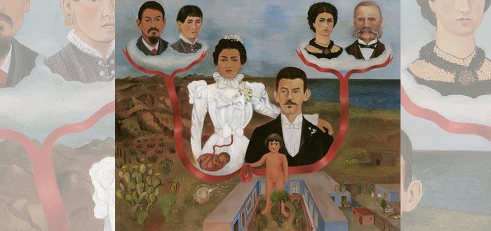 """""""Mis abuelos, mis padres y yo"""" (1936, óleo) - Frida Kahlo"""