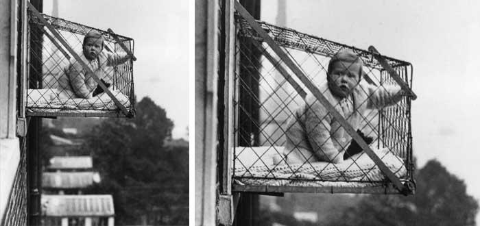 jaula, inventos para bebés